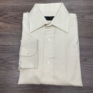 Robert Talbott Solid Ecru Dress Shirt 15.5-34